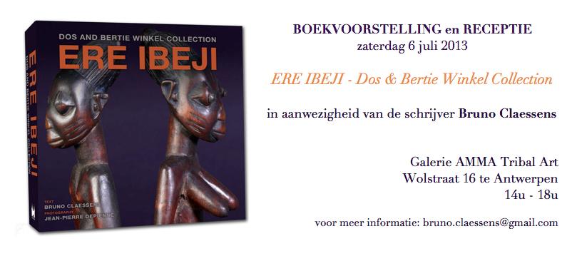 boekvoorstelling Ere Ibeji Bruno Claessens