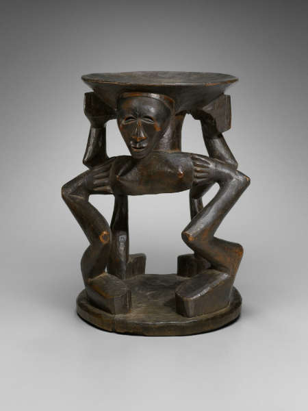 Songye caryatid stool. (image courtesy of Yale University Art Gallery, #2006.51.292)