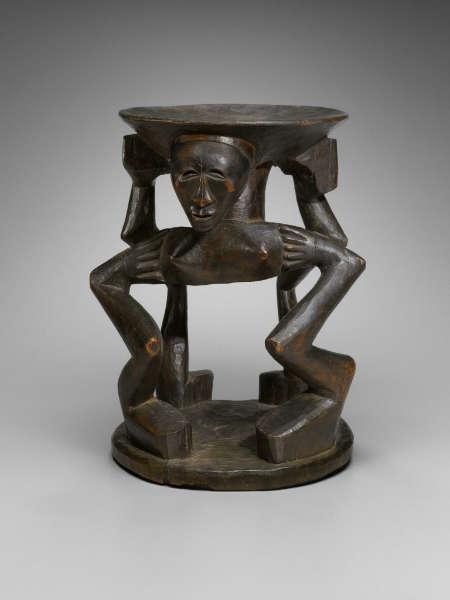 Songye caryatid stool. (image courtesy of Yale University Art Gallery, #2006.51.292)
