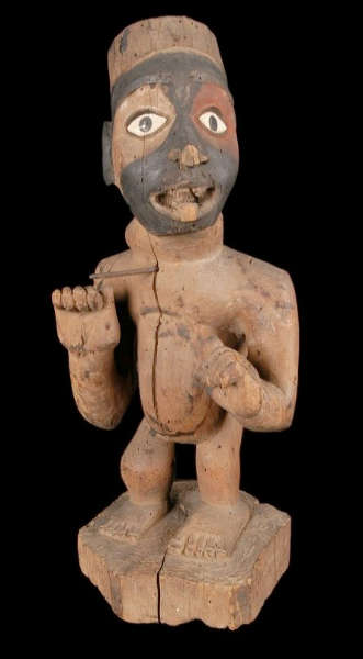 Kongo-Vili figure; height: 38,5 cm. Image courtesy of the Musée du quai Branly (#71.1930.29.322).