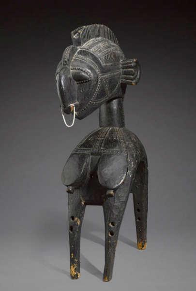 Baga headdress. Wood, brass, metal, height 119.5cm. Est $ 400,000-600,000. Photo courtesy of Bonhams.