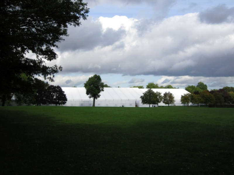 Frieze Masters tents in Hyde Park. Image: BC.