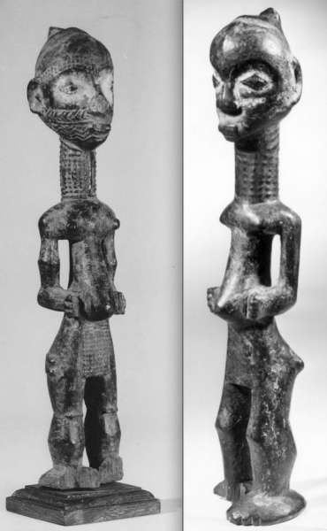 Left picture courtesy of the Royal Museum for Central Africa, Tervuren (#EO.0.0.43207); height: 40 cm. Right figure: YVRA #0000857).