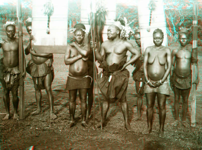 Chef Magbate from the Magoka with his shields and bundles of lances. Image courtesy of the American Museum of Natural History.