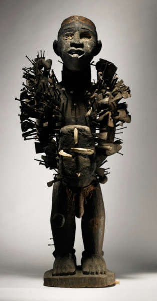 Kongo-Yombe figure. Height: 91,4 cm. Estimate: $700,000-1,000,000 USD. Image courtesy of Sotheby's.