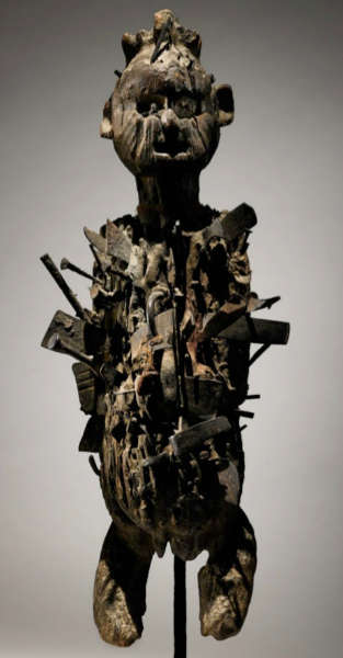 Kongo figure. Height: 52,7 cm. Estimate: $30,000 - 50,000 USD. Image courtesy of Sotheby's.