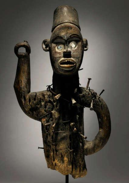Kongo figure. Height: 62,9 cm. Estimate: $60,000 - 90,000 USD. Image courtesy of Sotheby's.