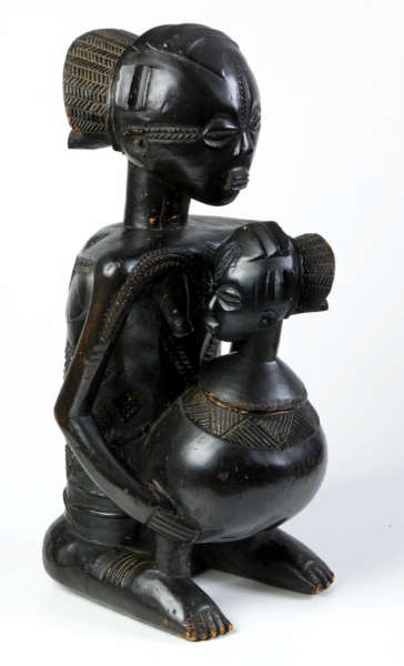 Luba Shankadi Mboko figure Kitwa Biseke Colin Sayer A Luba mboko from the Colin Sayers collection of African art