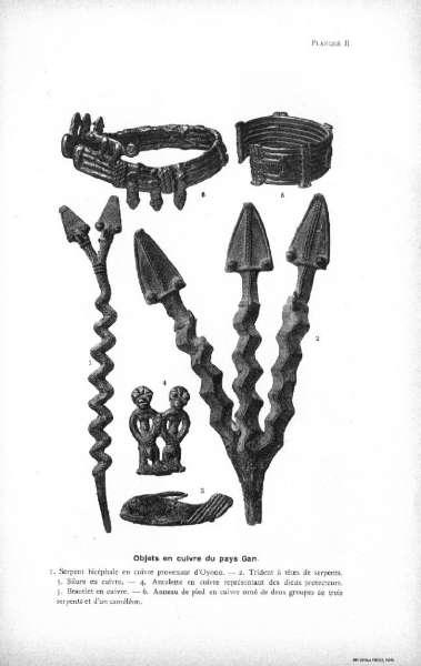 Henri Labouret Les tribus du rameau Lobi (1931) Gan bronzes