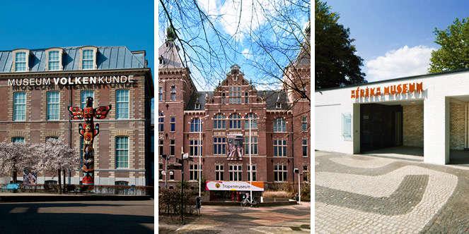 Tropenmuseum, Afrika museum en Rijksmuseum Volkenkunde National Museum of World Cultures