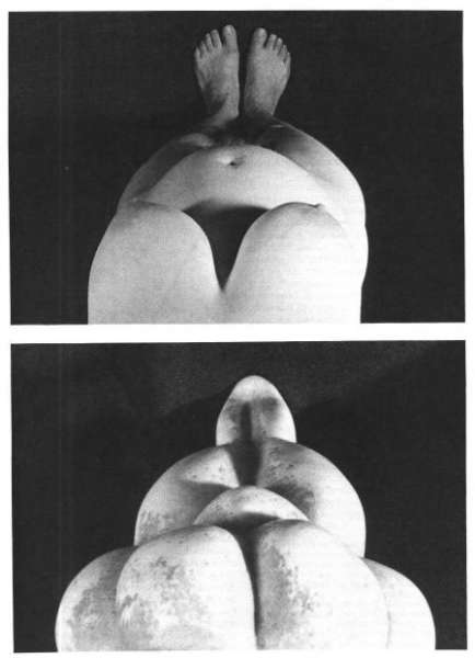 "(source: McDermott (L.), ""Self-Representation in Upper Paleolithic Female Figurines"", Current Anthropology, Vol. 37, No. 2, April 1996: pp. 227-275)"