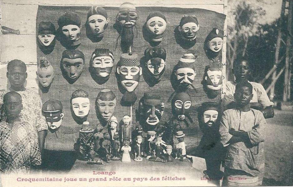 Loango postcard Tourist Kongo art 1910