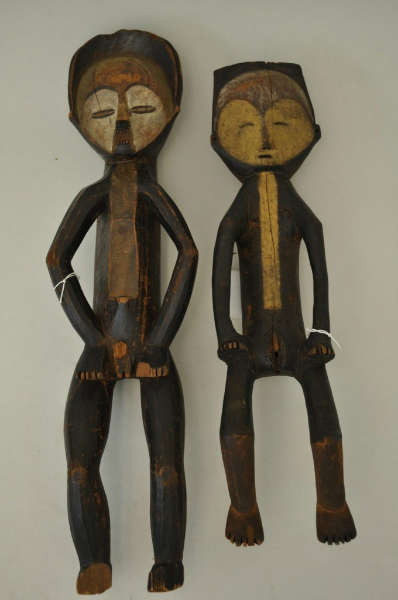 Two Mbole figures acquired from Oldman in 1912. Image courtesy of the Penn Museum.