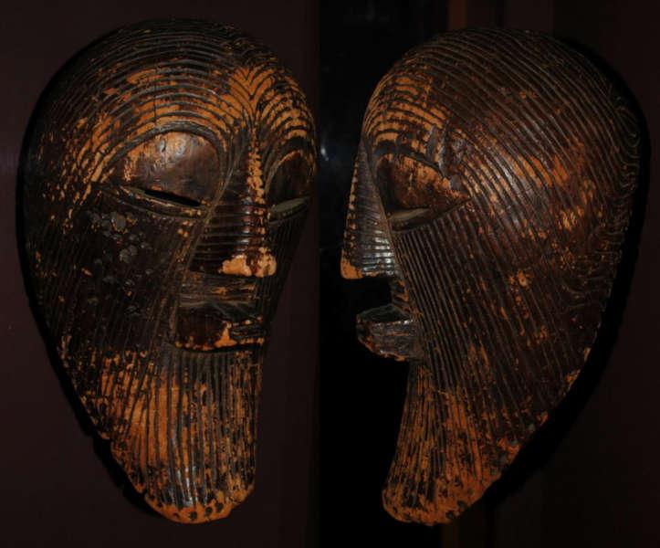 Vandevelde Songye kifwebe mask 19th century