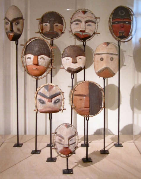 Alutiiq masks from the Kodiak archipelago at the Boulogne-sur-Mer Museum 1