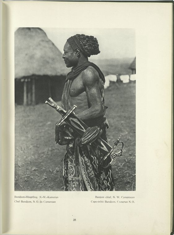 Banjom Chief Cameroon Bernatzik THe Dark Continent