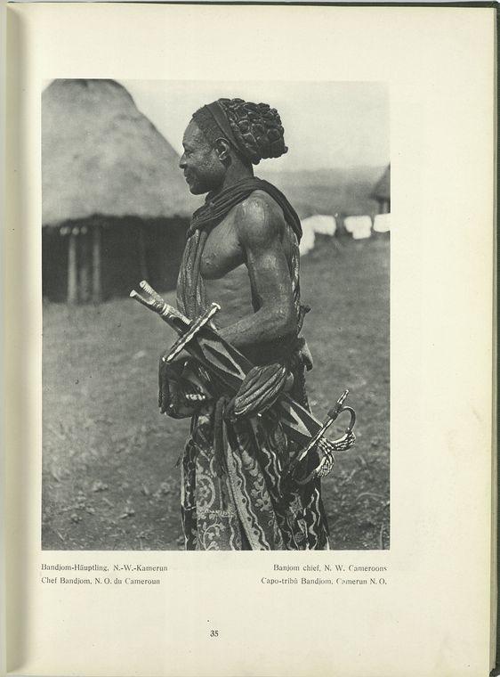 Banjom Chief Cameroon Bernatzik THe Dark Continent