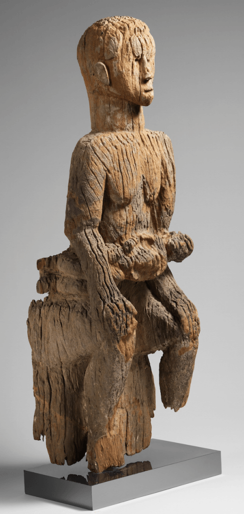 Mbembe mother and child figure. Height: 108 cm. Image courtesy of the Metropolitan Museum of Art (#2010.256).