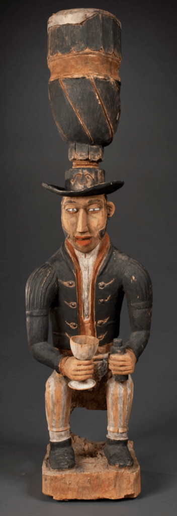Vili drum. Height: 100,3 cm. Image courtesy of the Peabody Essex Museum (#E6754).
