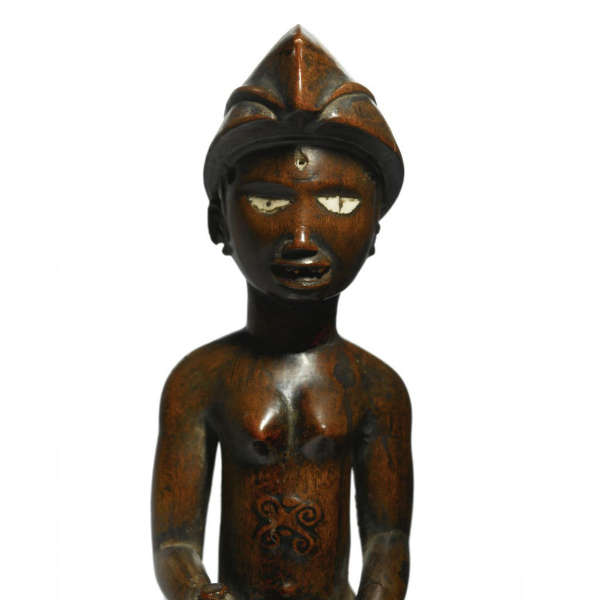 Lumbo figure. Height: 15,5 cm. Ex Collection Rubinstein. Image courtesy of the Africarium Collection.