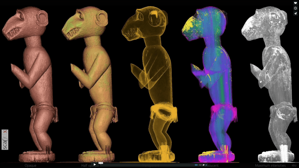 A CT scan study of a Baule monkey figure Ghysels Scantix Germain