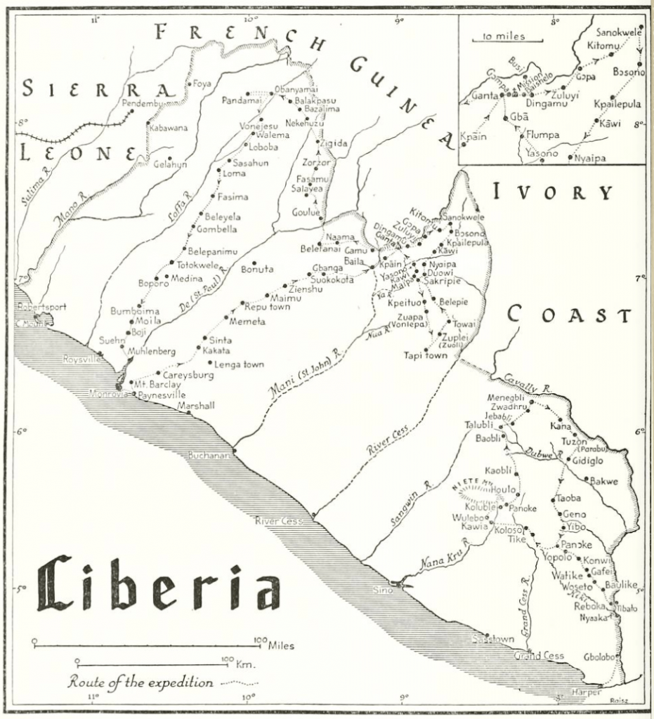 Tribes of the Liberian Hinterland Peabody expedition Liberia route