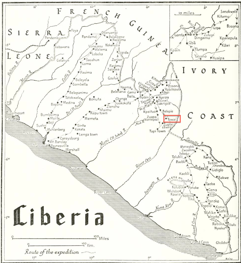 map Tribes from the Liberian Hinterland 1