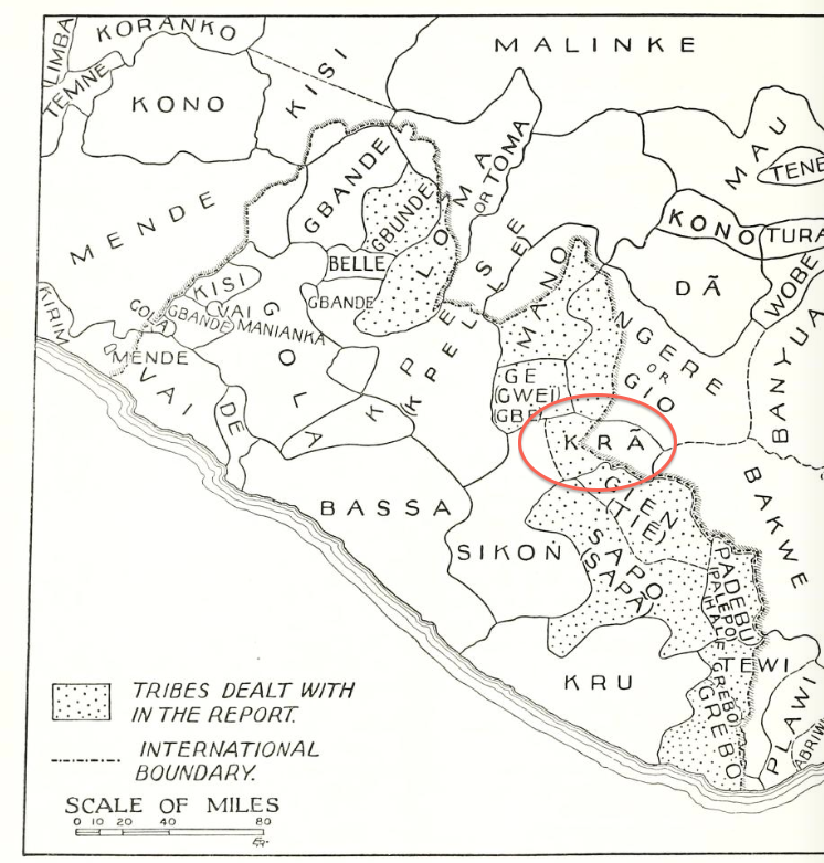 map Tribes from the Liberian Hinterland 2 Notes on a Dan figure from the Myron Kunin collection