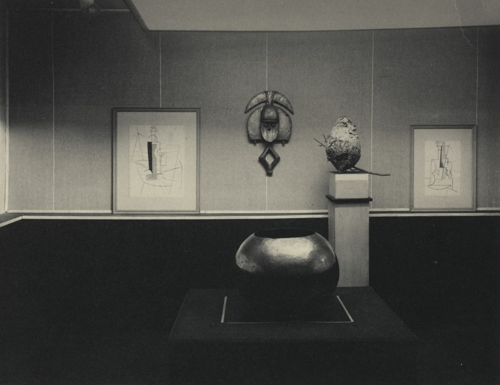 "Alfred Stieglitz, 'The Picasso-Braque Exhibition, ""291""'. Platinum print, 19,5 by 24,7 cm. Image courtesy of Sotheby's."