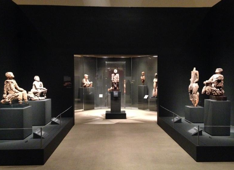 "A sneak peek of the installation of ""Warriors and Mothers: Epic Mbembe Art"" at the Metropolitan. Image courtesy of Yaëlle Biro - as posted on her twitter account."