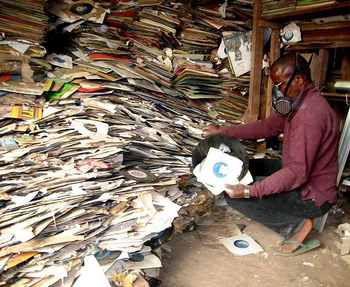 A warehouse full of records in Enugu, Nigeria. Image courtesy of Voodoofunk.